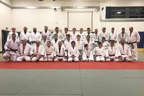 Group photo from Club Judoka's Chairty Session in Worthing